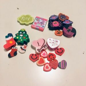 Festive Erasers [Lot of 22]